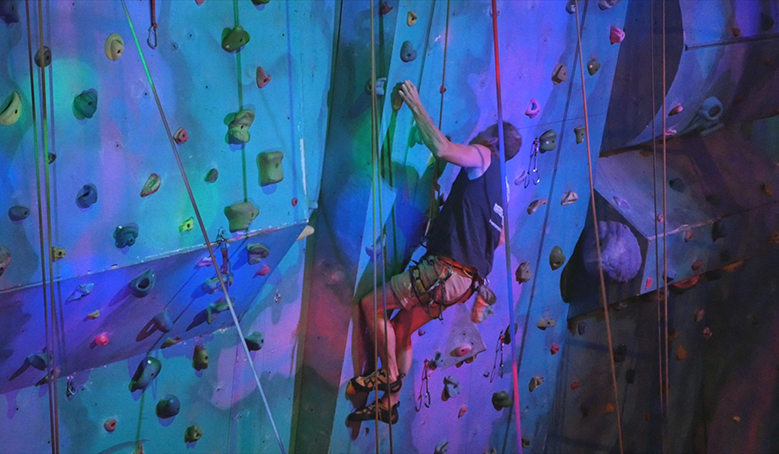 Indoor Rock Climbing At Centre Of Gravity