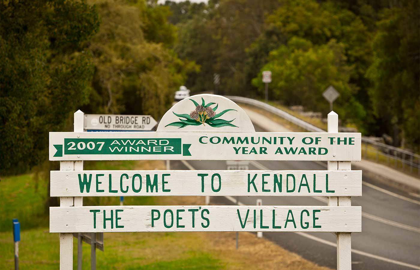 Kendal Town Entry Sign