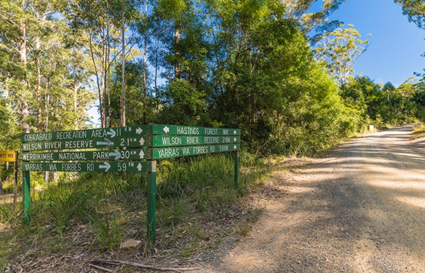 Wilson Reserve And Cobrabald Recreation Area Signage