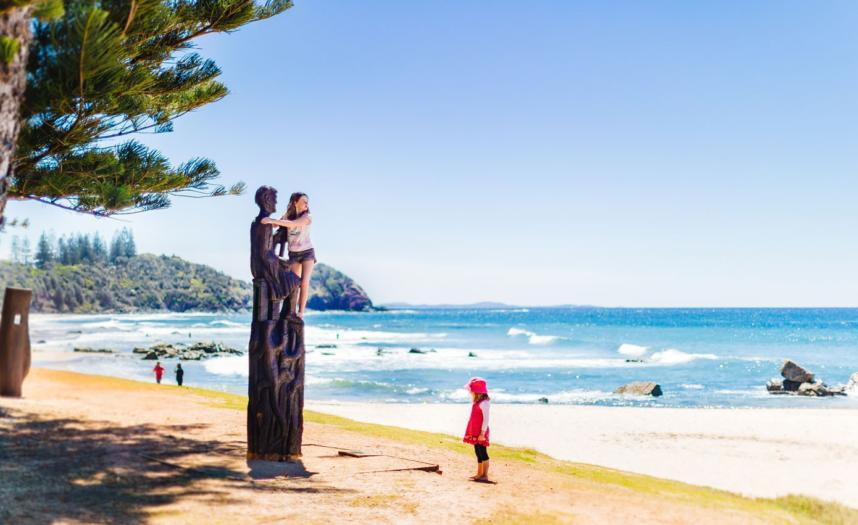 Kids At Shelly Beach